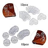 24 Stück Baby Sicherheit Kantenschutz KAKOO Silikon Eckenschutz in Kugel-und Herz-Form Stoßschutz Kinderschutz mit Klebepads für Tisch Möbel-Ecken
