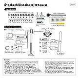 Finether Multi Schraubenzieher Set Schraubendreher Set Schrauber-Bit SetSteckschlüssel-Set 40-teilig Schrauberbit BitsatzSteckschlüsseleinsatz -