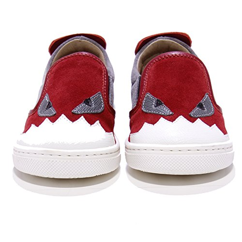 fendi-monster-leather-and-suede-slip-on