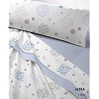 Juego de sábanas térmico Altea cama 90, 105, 135 y 150 cm OFERTA (azul, cama 90)