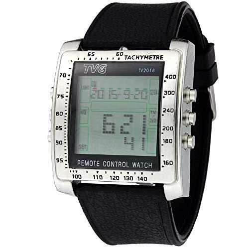 fenkoo Herren Armbanduhr Silikon-Uhrenband, Digital, als Fernbedienung verwendbar, Weckerfunktion, zur Steuerung von Fernseher DVD-Player