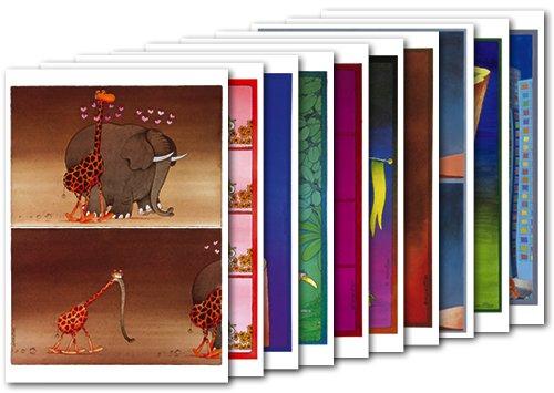 10er-Set: Postkarten A6 +++ MIX SET Nr. 1 von modern times +++ 10 lustige MORDILLO-Motive +++ MODERN TIMES 2016 OLI VERLAG N.V.