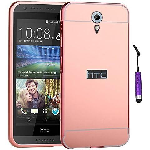 HTC Desire 620 Custodia, Moonmini® Custodia ultra sottile e leggero effetto specchio per HTC Desire 620 - Oro rosa