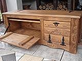 Massive handgemachte Holzkiste Truhe Box Holz Aufbewahrung Antik Dekoration L-IL3