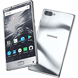 "Moviles Libres Baratos, DOOGEE MIX Smartphone Libre, 4G Android 7.0 Telefonos - MediaTek Helio P25 2.5GHz - 5.5"" AMOLED HD Pantalla - 6GB RAM + 64GB ROM - 8MP+16MP Cámara -Batería de 3380mAh - (Plata)"