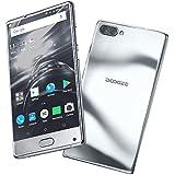 Telephone Portable Debloqué, DOOGEE MIX Smartphone 4G, Écran 5,5 Pouces Super AMOLED - Helio P25 Octa Core - 6Go + 64Go - 16MP+5MP Double Caméras - Empreinte Digitale - Double SIM Android 7.0 - Argent