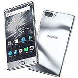Smartphone ohne Vertrag, DOOGEE MIX 4G Dual Sim Günstig Handy, Android 7.0 5.5 Zoll HD Screen Smartphones, Helio P25 2.5GHz 6GB RAM + 64GB ROM,16MP+8MP Dual Kamera 3380mAh Fingerabdrucksensor- Sliber