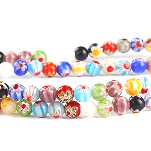 ccinee-6mm-200pcs-mixed-colourful-millefiori-glass-beads-for-diy-jewellery-making-crafts
