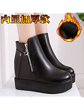 KPHY-La pendiente del aumento con gruesas botas de una sola Primavera y Otoño botas botas de invierno High-Heeled...