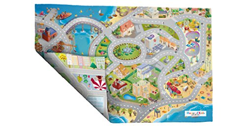 *House Of Kids nbsp;–94074–Spiel-Teppich, Umkehrbar–Motiv: Straßen am Meer*