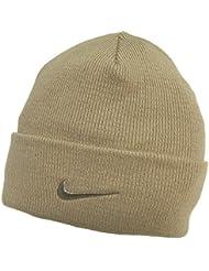 Adults Nike Fine Double Knit Warm Beige Beanie Hat 564453-168 by Nike