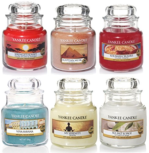 Oficial Yankee Candle Classic selección caja regalo Set de 6firma Mini Tarro pequeño