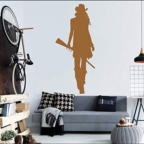Peinture murale maison salon cool créatif décoratif sticker mural autocollant brun 26X57CM