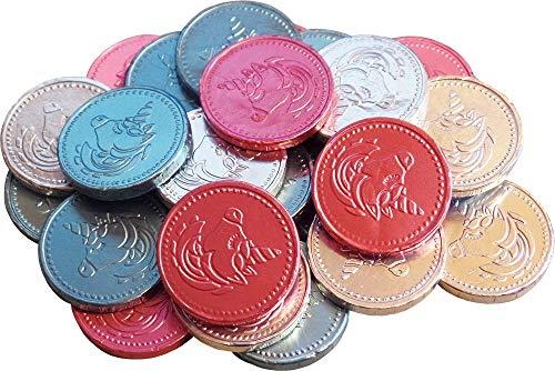 Milchschokolade Einhorn Münzen (Packung mit 25) (Lutscher Einhorn)