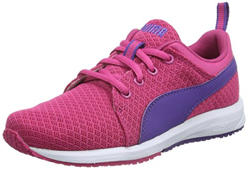 Puma Unisex-Kinder Carson Mesh V Low-Top, Pink (Fuchsia Purple-Prism Violet 04), 21 EU