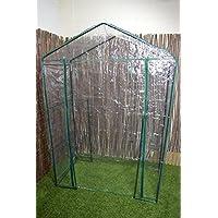 Green Blade Walk in Garden Greenhouse with Shelving GH250 - Funda de jardín