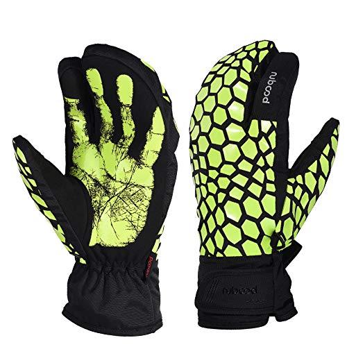 Kanqingqing Uhrenbox Skihandschuhe für Männer Warme Handschuhe Touchscreen Winterhandschuhe Wasserdicht Verstellbare Manschette Am besten zum Reiten Snowboarden (Color : Yellow, Size : S)