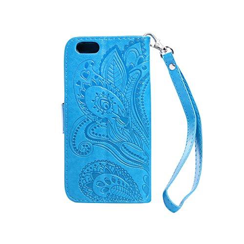 Fatcatparadise, Borsa a spalla uomo Coffee iPhone 6 Plus/6S Plus Blue