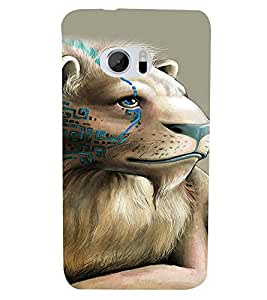 Fuson Premium Lion King Printed Hard Plastic Back Case Cover for HTC M10