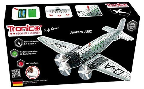 Tronico construction, airplane, Junkers Ju 52, 908 parts, 1: 50, battery operated, Helix turn located, 4-farbig ILLUSTRATED assembly instructions, INCLUDES TOOLS, Professional Series, AB 12 years,