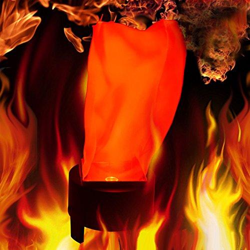 Zantec Halloween LED à suspendre Faux Flamme lampe torche lumière Fire Pot Bol Festival fête Décoration Prop