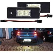 LITTOU 2 X Luz de Matricula 18 LED SMD LED traseras CanBus error free Para E63