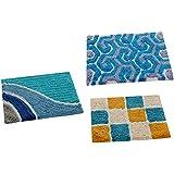 "AAZEEM Abstract Cotton Door Mat - 16""x24"", Multicolour"