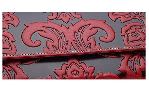 Keshi - Sac à main femmes - Porté MAIN et EPAULE cuir De Vache Rouge