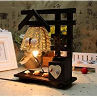 SQDTNSLT-paglia piccoli vintage tavolo in legno lampada luce notturna innovazione con matita home vaso decorativo decorazione il giorno di San Valentino bar discoteca
