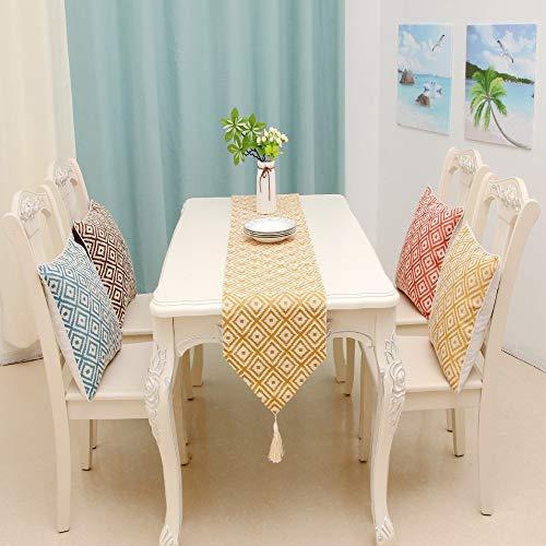 Qinqin666 Tischläufer Sinn für Mode der luxuriösen minimalistischen Stil Tisch Läufer Tischfahne Fahne Gold 32x220cm
