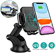 CHOETECH Wireless Car Charger, 10W Wireless Car Charging Mount