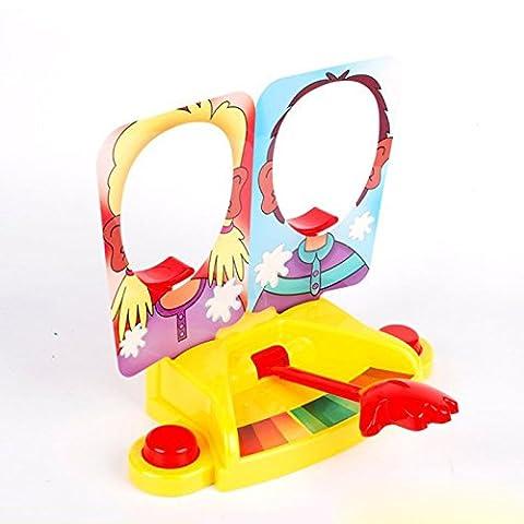 Repino Funny Double Person Toy Cake Cream Pie In The Face Anti Stress Toy Fun Game Prank Jokes