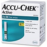 Accu Chek Active Glucometer Strips - 50 Strips (Pack Of 2, Multicolor)