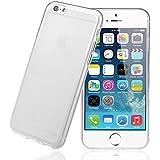 Coque iPhone 6, IDACA TPU Silicone Etui Coque pour iPhone 6 4.7 inch, Transparent+Blanc mat