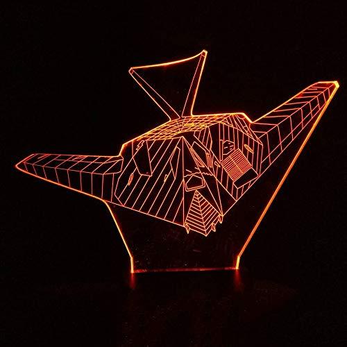 Creativo 3D Colorido Decoración Visión Nocturno Aéreo Luz Modelado de Aviones Avión...