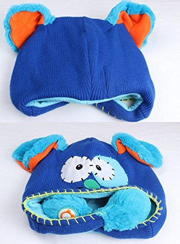 Foopp Lovely Flipeez Animated A Boo Puppy Action Kids Blue Hat e95bba76fc3a