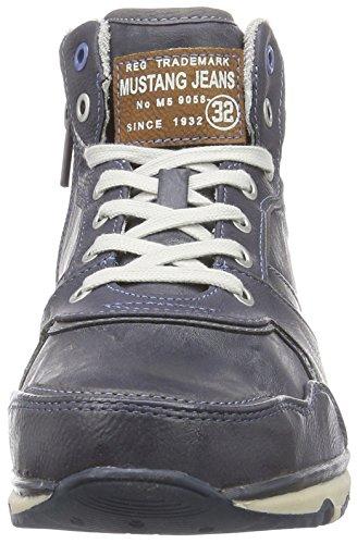 610fbf5ab2a85c Mustang Herren Hohe Sneakers Blau 800 dunkelblau