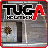 TUGA - Holztech Naturholzrahmen für Rollroste passend für Alle Betten ohne Auflagerleisten geeignet inkl Schrauben, ideal auch als Tiefes Bettgestell zu Verwenden