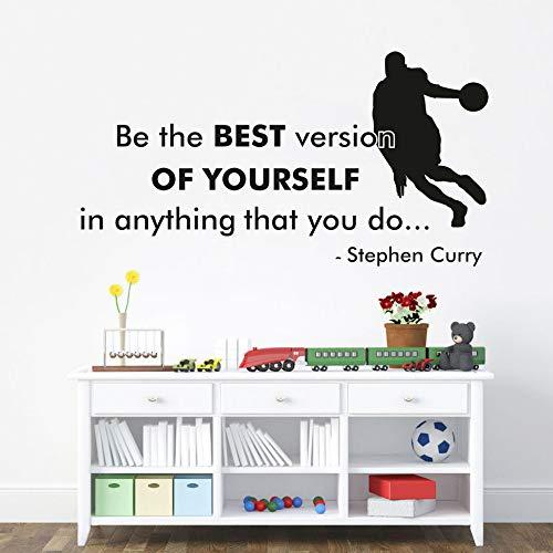 jiuyaomai Wandaufkleber Zitat Die Beste Version Sein Basketball Superstar Kunst Junge Schlafzimmer Sport Poster Wohnkultur Aufkleber red 80 cm x 42 cm