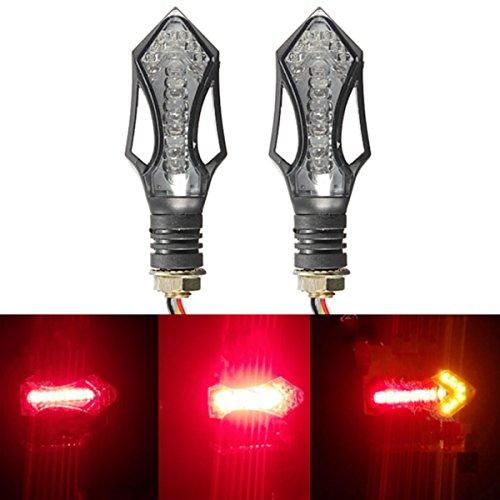 AUDEW 4x Universal LED Motorrad Blinker Kontrollleuchte 12V Lampe Schwarz