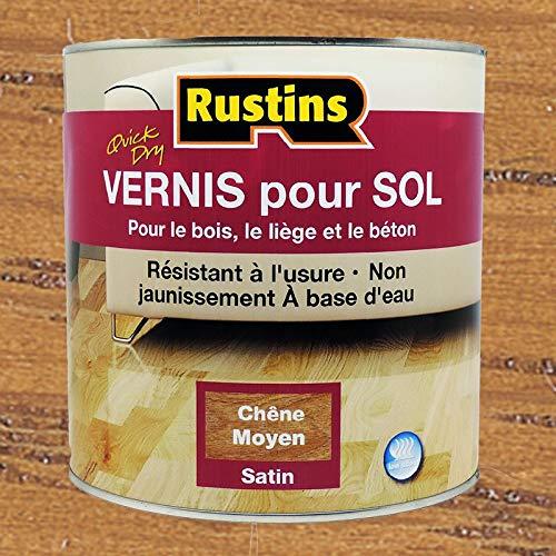 Rustin's (AFMO2500) Vernis pour sol – Séchage rapide – Chêne moyen – Satiné – 10-12m²/L – 2.5L