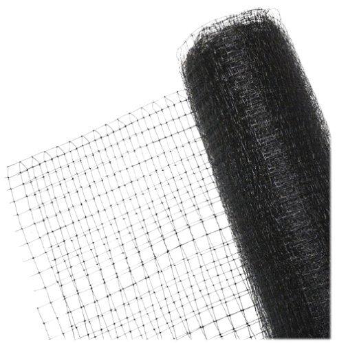 WARKHOME Vogelschutznetz zum Abdecken von Bäumen,Sträuchern,Beeten | Vogelnetz für Garten, Balkon oder Teich | Netz zum Schutz vor Vögeln| Maschenweite: 10 mm | schwarz |94 CMx 5 M