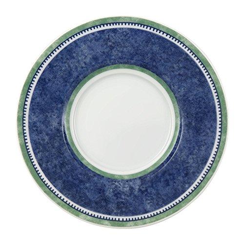Villeroy & Boch Switch 3 Untertasse, 15 cm, Porzellan, Weiß/Blau/Grün Eine Untertasse
