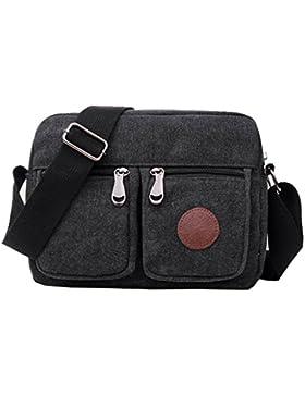 Super modernes Herren Kleine Vintage Canvas Messenger Bag Cross-Body-Tasche Pack Organizer Umhängetasche Langlebig...