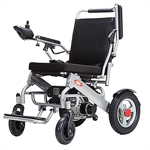 MZLJL Electric Wheelchair,Modern Intelligent 360° Joystick Folding Hand Push/Electric Durable Outdoor Elderly Disabled Four-Wheeled Electric Wheelchair(Lithium Battery) - Electric Power Stuhl