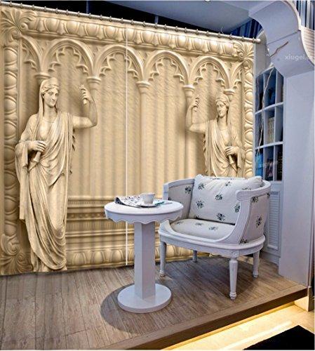 Preisvergleich Produktbild Sproud Gardinen Die Menschen Vorhänge Für Das Schlafzimmer Fenster Küche Gardinen Baumwolle 3D-Vorhängen-260Cmx300Cm