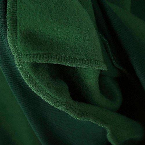 Femmes Blouse, Transer ® Les femmes impriment à manches longues pull Sweat Sweat à capuche Pullover Vert