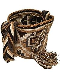 Mochila der Wayuu Indianer Handtasche aus Karibik Fair Trade Tragetasche Strandtasche in Handarbeit für Hipster Unisex aus Kolumbien mittlere Größe