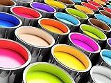 Manadur B471 Bodenbeschichtung 10kg für 50qm 2K Epoxidharz farbig, viele RAL farben Garagenbeschichtung Industriebeschichtung Kellerbschichtung Lagerbeschichtung (RAL 7001 silbergrau)