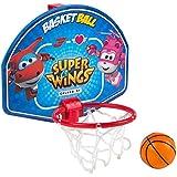 Super Wings - Mini canasta de baloncesto, 28 x 22 cm (ColorBaby 77053)